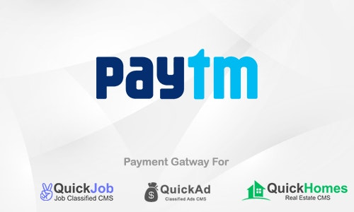 Paytm Payment Plugin For QuickCMS v1.0